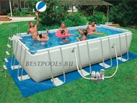 Каркасный бассейн Intex Rectangular Ultra Frame Pool 28352, 549 х 274 х 132 см