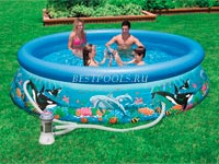 Надувной бассейн Intex Ocean Reef Easy Set Pool 28126, 305 х 76 см