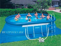 Овальный бассейн Intex Oval Frame Pool 57984, 610 х 366 х 122 см