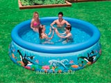 Надувной бассейн Intex Ocean Reef Easy Set Pool 28124, 305 х 76 см