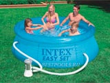 Надувной бассейн Intex Clearview Easy Set Pool 54912, 244 х 76 см