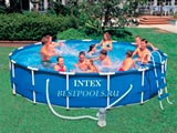 Каркасный бассейн Intex Metal Frame Pool 28232, 457 х 91 см