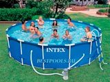 Каркасный бассейн Intex Metal Frame Pool 28234, 457 х 107 см