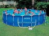 Каркасный бассейн Intex Metal Frame Pool 28252, 549 х 122 см